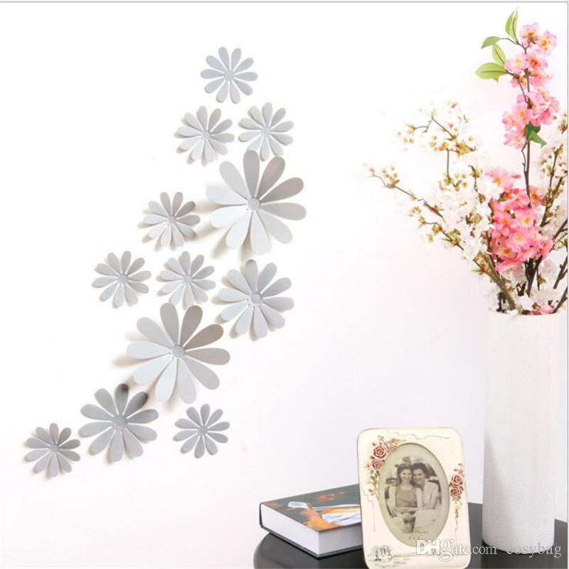 PVC Colorful Flower Wall Stickers For Home Decor DIY Children Room Nursery Wall Decoration