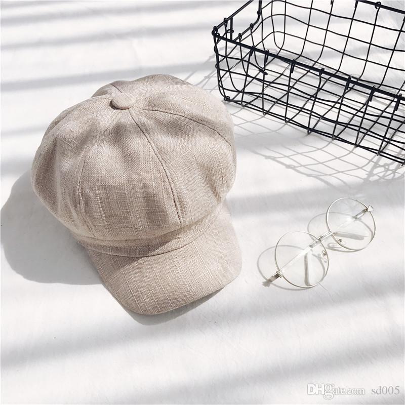 9838cc4999f Cotton And Linen Hats Newsboy Warm Fashion Autumn And Winter Retro Beret  Solid Color Painter Female Cap 12lh Hh Cotton And Linen Hat Autumn And  Winter Retro ...