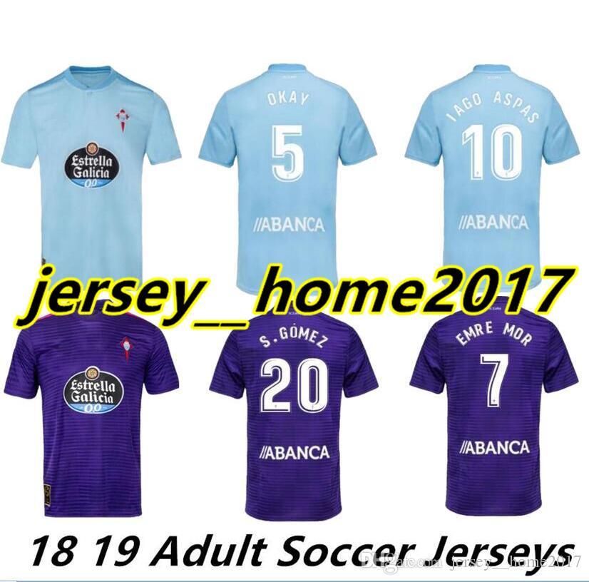 2019 2018 2019 Celta Vigo Soccer Jersey Home Away Iago Aspas Maximiliano  Gomez Sisto Jonny Camiseta De Futbol Jerseys Uniforms Football Shirts From  ... b8ed217b8