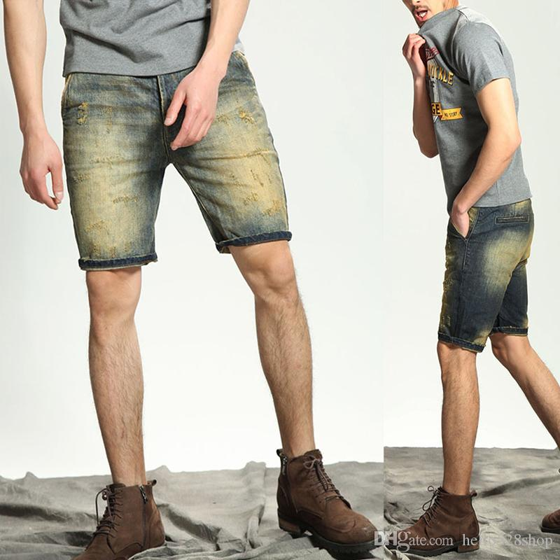 Acquista Personality Maschile Jeans Designer Summer Tide Hole WEYD29IH