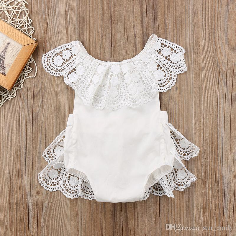 be28422f5488 Mikrdoo Casual White Girl s Rompers Summer Infant Baby Girl Flower ...