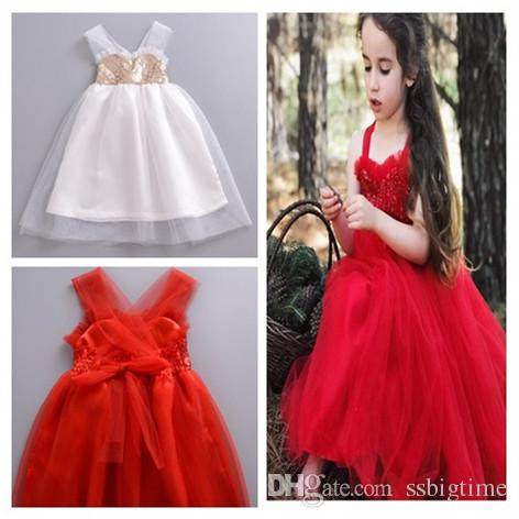 12c75c2a7c0f 2019 2018 Baby Childrens Dresses For Girls Clothing Sequined Gauze Princess  Dress Cotton Girl Kids Ball Gown Prom Dresses Boutique Enfant Clothes From  ...