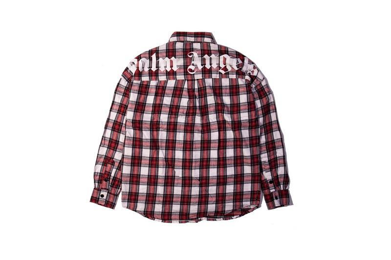 2018FW Best Version PA Logo Printed Women Men Plaid Shirts Hiphop Street Brand PA Oversized Men Casual Shirt