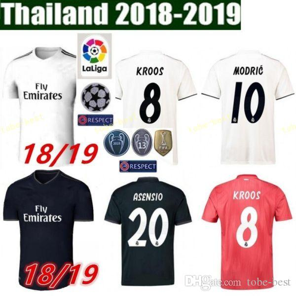 2019 FC Real Madrid La Liga Soccer 8 TONI KROOS Jersey Men 9 BENZEMA 12  MARCELO 17 VAZQUEZ 2 CARVAJAL Football Shirt Kits Uniform From Tobe Best 56a738599