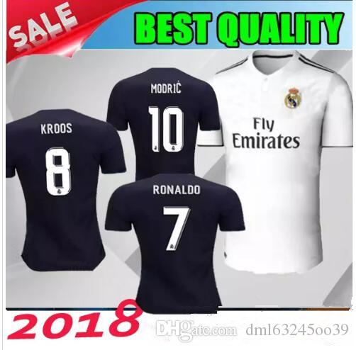 796a554cac8 2018 2019 Real Madrid Soccer Jersey 18 19 RONALDO BENZEMA MODRIC ...