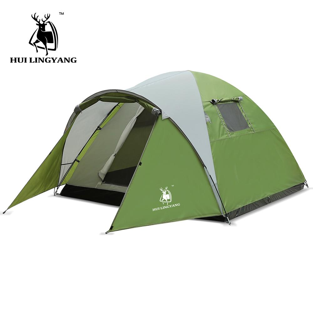 095c6659e Camping Tent Ultralight Large Space Double Layer 3-4 person Tents  Waterproof 4 Season Outdoor Family Camping 210x210x130cm