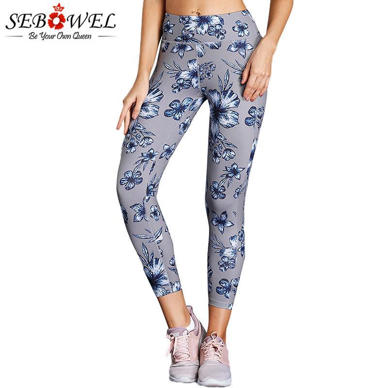 Femmes Taille Sport De Yoga Course Imprimé Slim Femme Leggings Sebowel Fitness Actif Gym Pantalon Floral Collants Haute Élastiques ynOmN0wv8