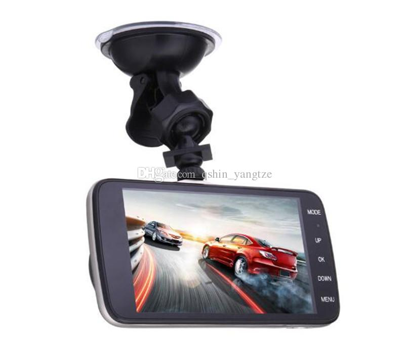 "1080P full HD 2Ch car DVR driving digital recorder vehicle dash camera 3.7"" 140° night vision G-sensor motion detection parking monitor"