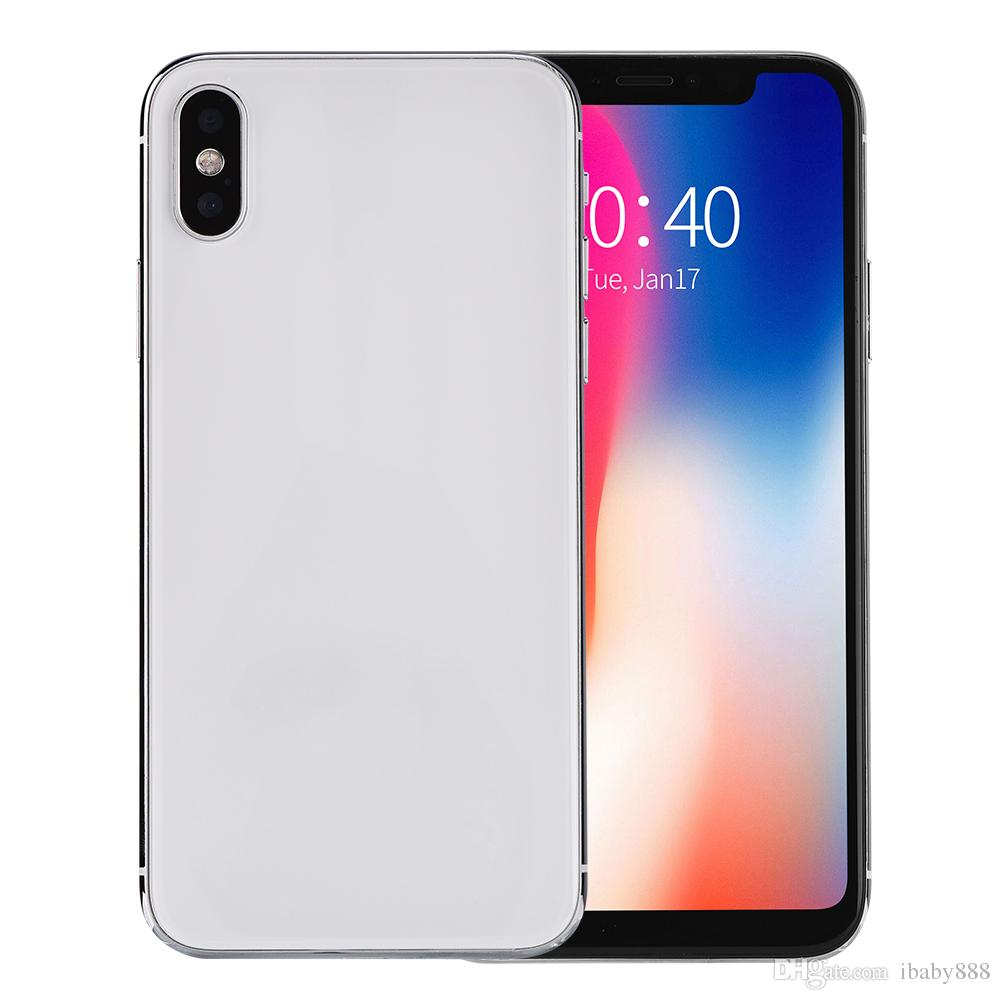 Face ID Goophone X V7 iX Clone 4G LTE 64-Bit Quad Core MTK6737 2GB 16GB  Android 7 0 5 8 inch Full Screen Wireless Charging GPS Smartphone