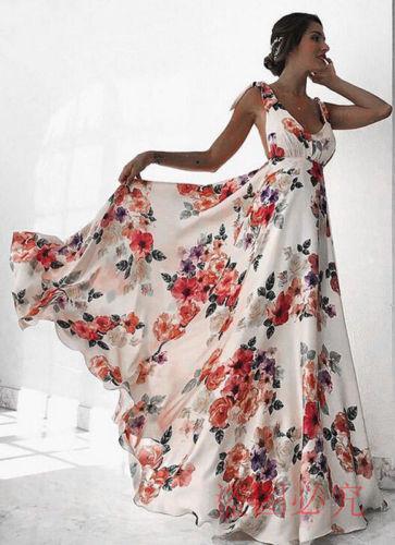 94966cbf45 Compre Vestido Largo De Estilo Bohemio Para Mujer