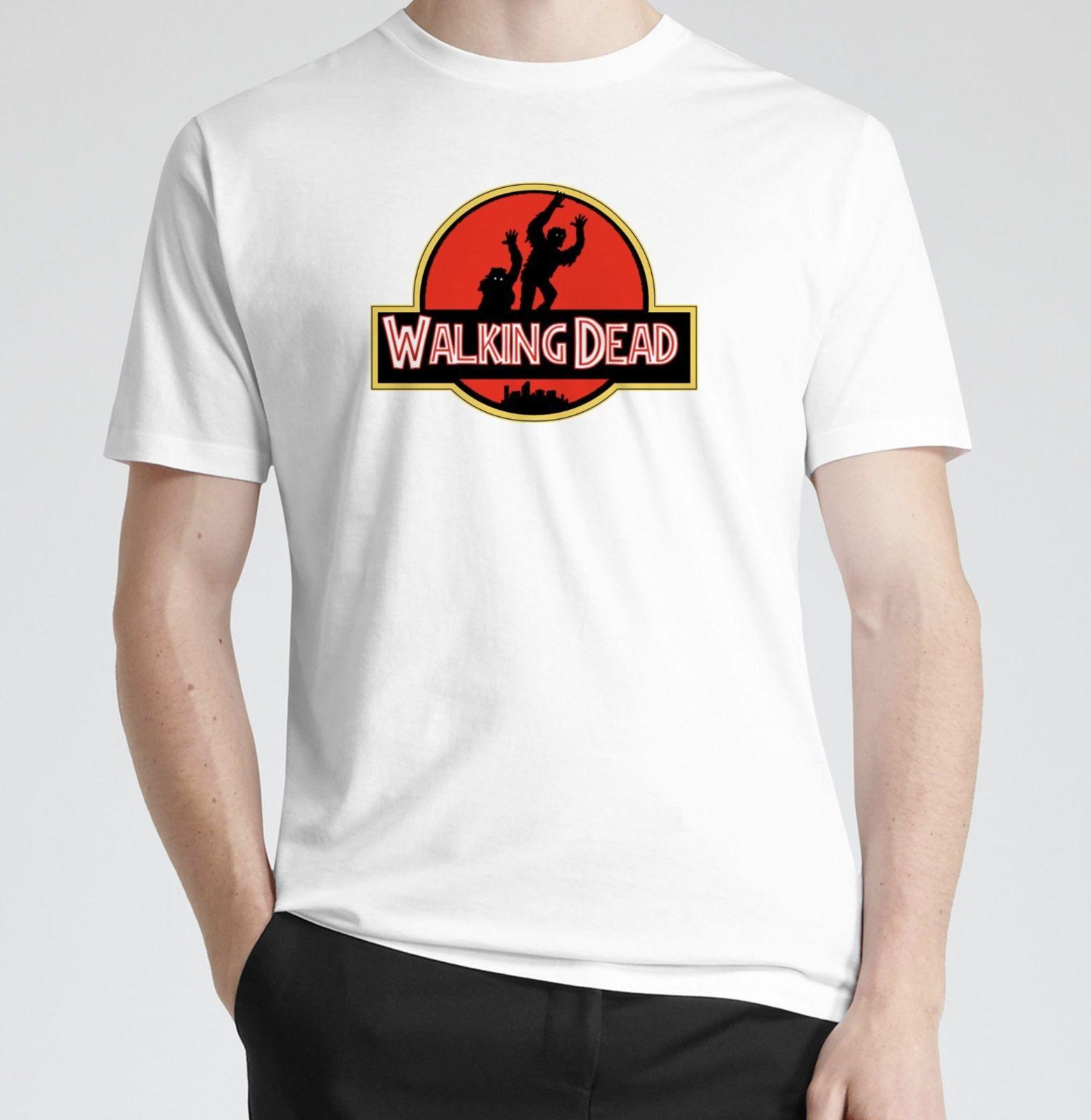 Acheter The Walking Dead Jurassic Park T Shirt T Shirt Tee Shirt