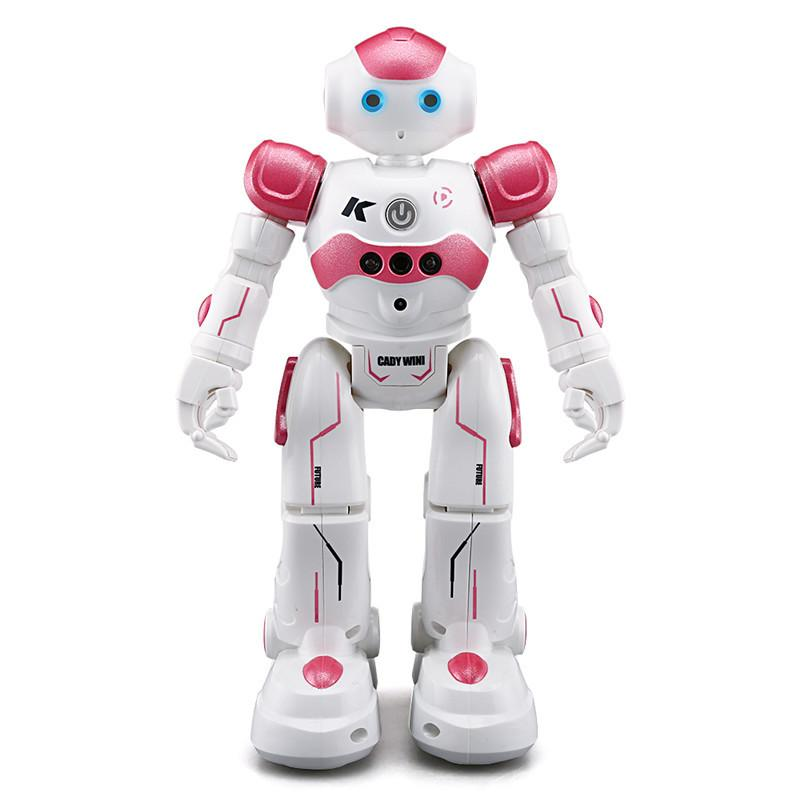 360 Remote USB Charging Dancing Gesture Control RC Robot Toy Blue Pink for Children Kids Birthday Gift Present