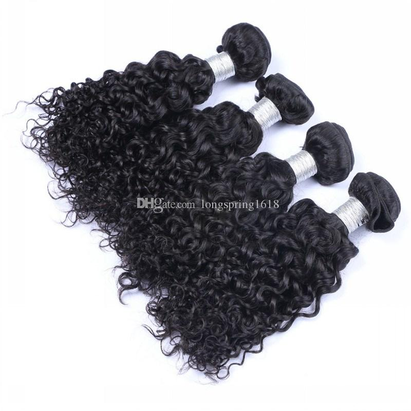 Peruvian Curly Human Hair Weaves 100% Virgin Unprocessed 9A Brazilian Malaysian Indian Cambodian Jerry Curly Human Hair Extensions Curls