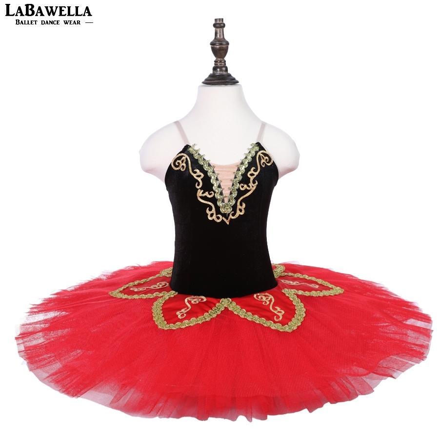 1db22b20f4b Compre Ropa De Ballet Rojo Negro Leotardos Niños Don Quijote Rendimiento  Ballet Falda Tutú Bailarina Danza CsotumeBLST18010 A  116.55 Del Yesterlike  ...