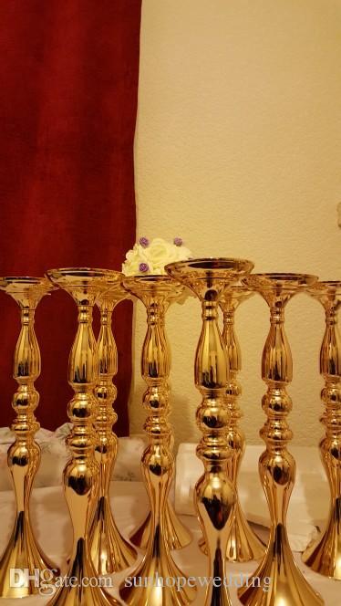 Portavelas decorativo de metal de boda vintage