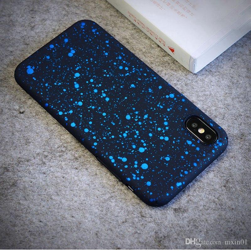 스타 코팅 안티 노크 별이 빛나는 하늘 젖빛 하드 PC 뒤 표지 케이스 아이폰 11 프로 X XS 최대 XR 8 7 6 6S 5 SE 2020