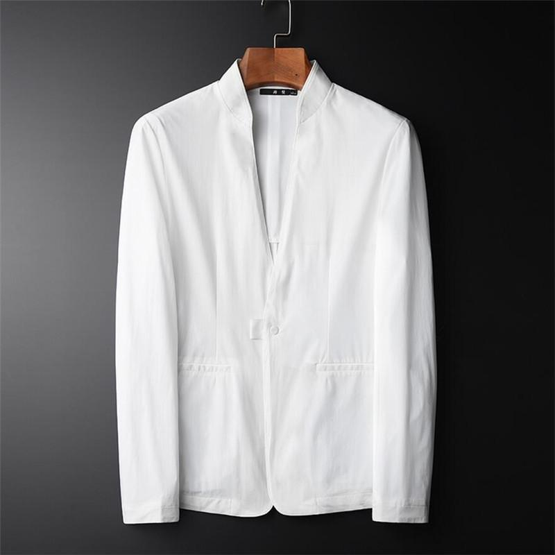 2019 Blazer Men Casual Lightweight Breathable Jacket Suits Men