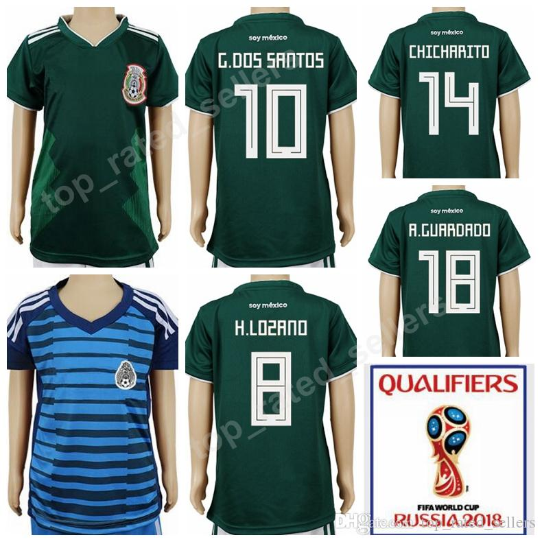f9943271311 2018 world cup mexican youth jersey mexico children soccer 18 andres  guardado 7 miguel layun 19