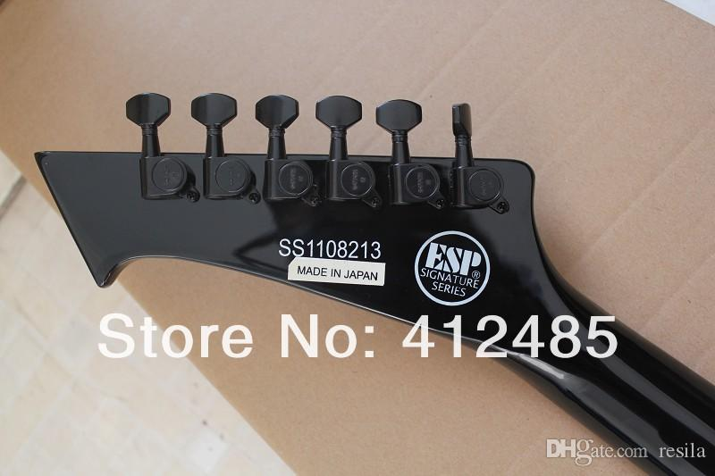 New Arrival Hot Selling Guitar SNAKEBYTE James Hetfield 6 Strings Electric Guitar in custom black