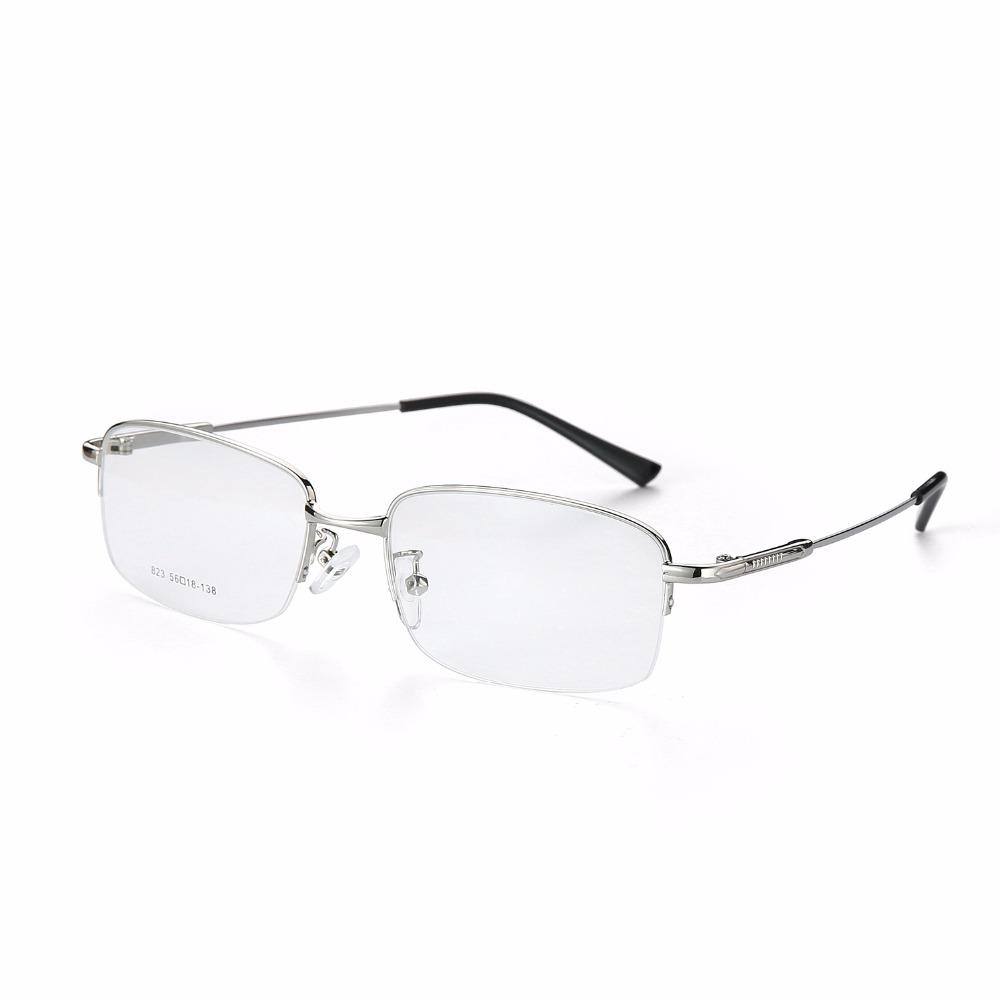 22f96d4d0e 2019 2017 Fashion Titanium Myopia Rimless Glasses Memory Square Eyeglasses  Optical Frame Eyewear Men Women Brand Designer 9201 From Newcollection