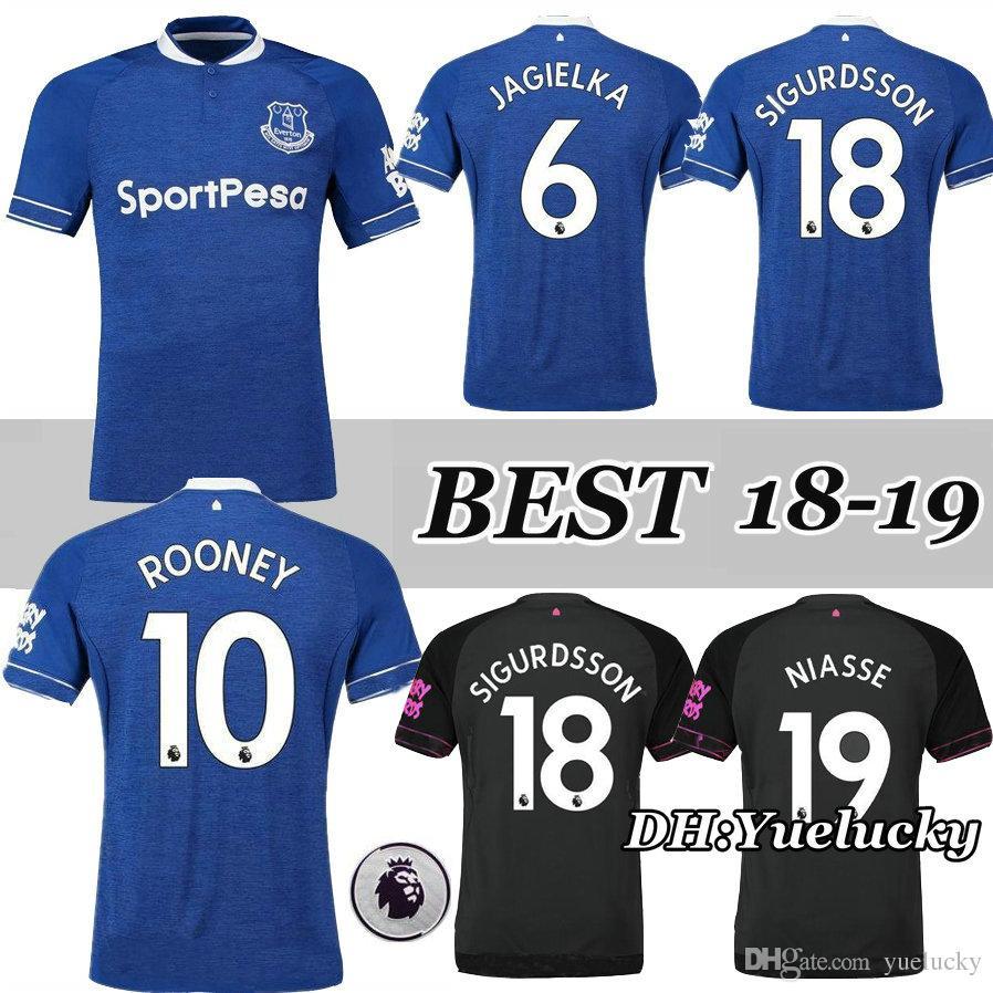 2b4d38fd9 Top Thai Quality 18 19 Everton Home Blue Soccer Jersey ROONEY SANDRO ...