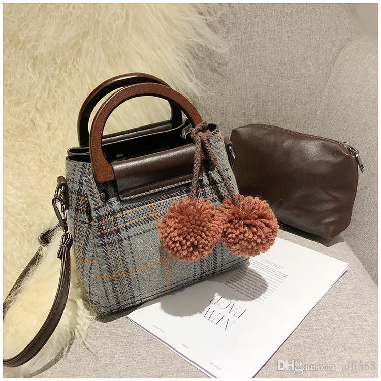 6b0aecf42949 Fashion Composite Bag Wome Bags Small Pom Poms Bags Ladies Shoulder Cross  Body Bags Bolsas Feminina Senmoer  11 Leather Purses Cheap Designer Handbags  From ...