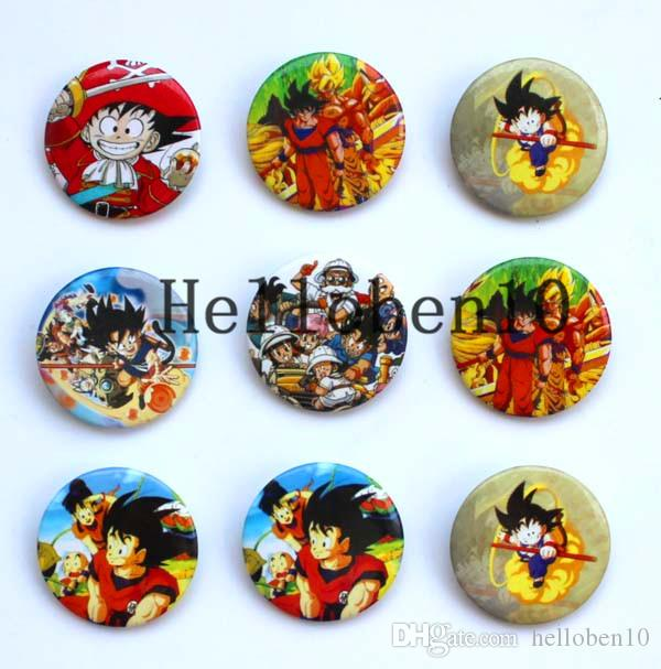 """The manufacturer sells the badge of 48 """"seven dragon balls"""". It's made up of many different cartoon characters. They canbe worn on the chest"""