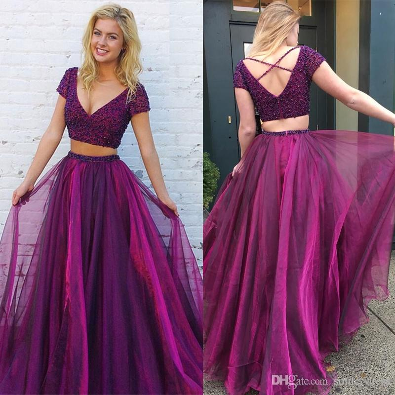 Deep Purple Short Prom Dress