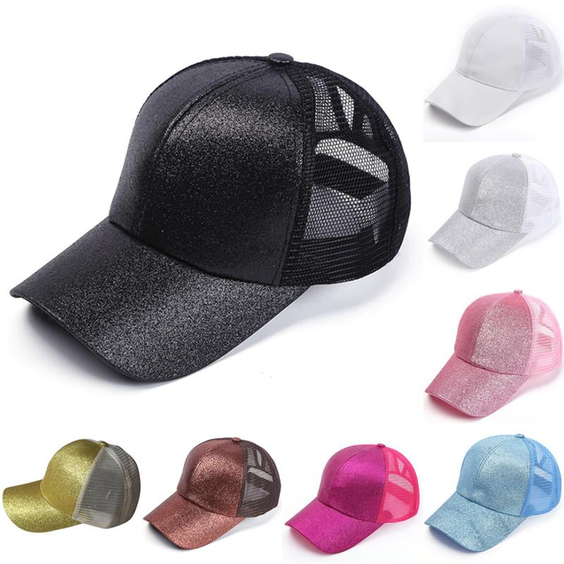 Women Snapback Hip Hop Caps Summer Glitter Ponytail Baseball Cap Messy  Sequins Shine Mesh Trucker Hat Fitted Cap Baseball Caps For Men From  Watercup 7f3294f6dbe9