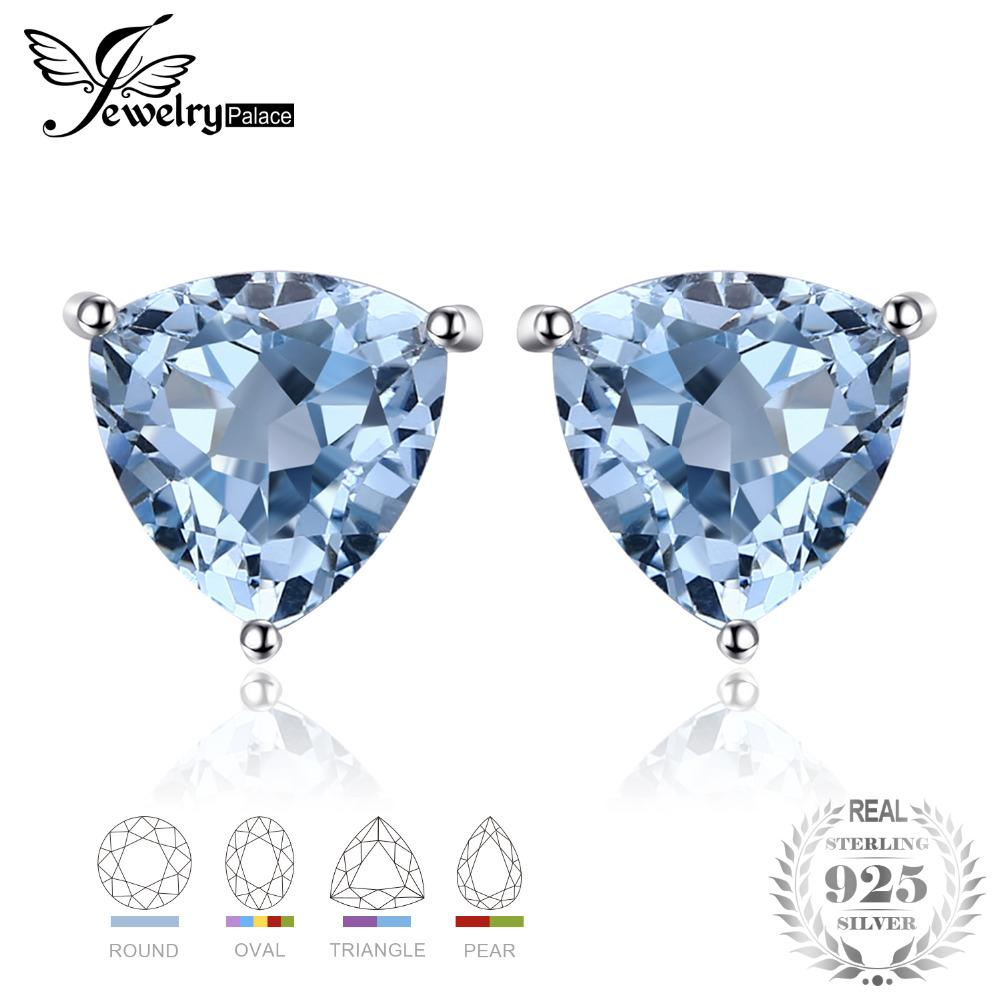 8ed057977 JewelryPalace 1.8ct Natural Sky Blue Topaz 925 Sterling Silver ...