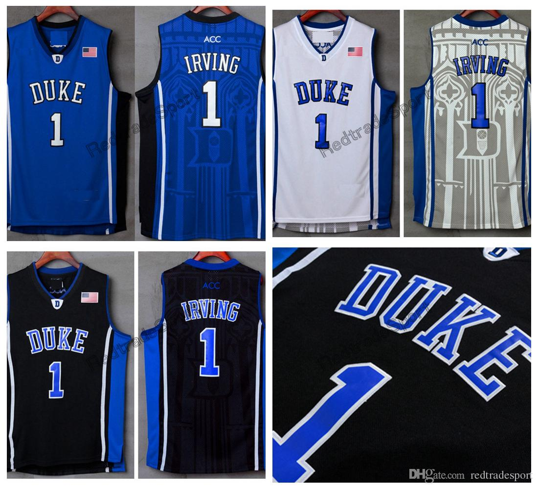 72331d008e5b ... coupon code for mens duke blue devils kyrie irving college basketball  jersey cheap blue black 1
