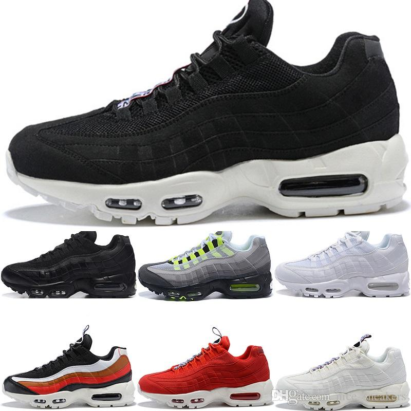 new concept ab284 fa305 2018 Designer 95 Men Running Shoes What The OG Grape Neon TT Black Red 95s  Mens Trainers Sports Sneakers Size 7-11
