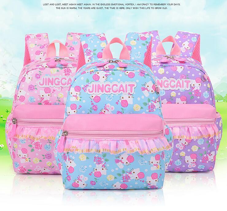d1f41774ac Aged 1-5 Children Kids Bagpack Sweet Cat Print Backpack Kindergarten School  Book Shoulder Bags Rucksack Children Backpacks Online with  8.23 Piece on  ...