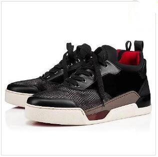 10825c7b38cd 2018 Red Bottom Men Sneakers Aurelien Flat Lovers Genuine Leather ...