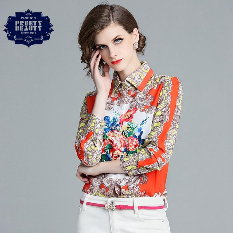 7e2a954b3c8c Girls Floral Shirts Print T Shirt Contrast Color Lapel Neck Long ...