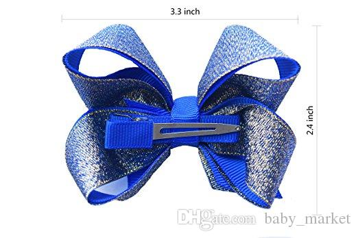 Hair Bows For Girls Boutique Hair Bows Sequin Alligator Clips Bows For Toddlers Kids Children Teens Grosgrain Adorable Gift Set
