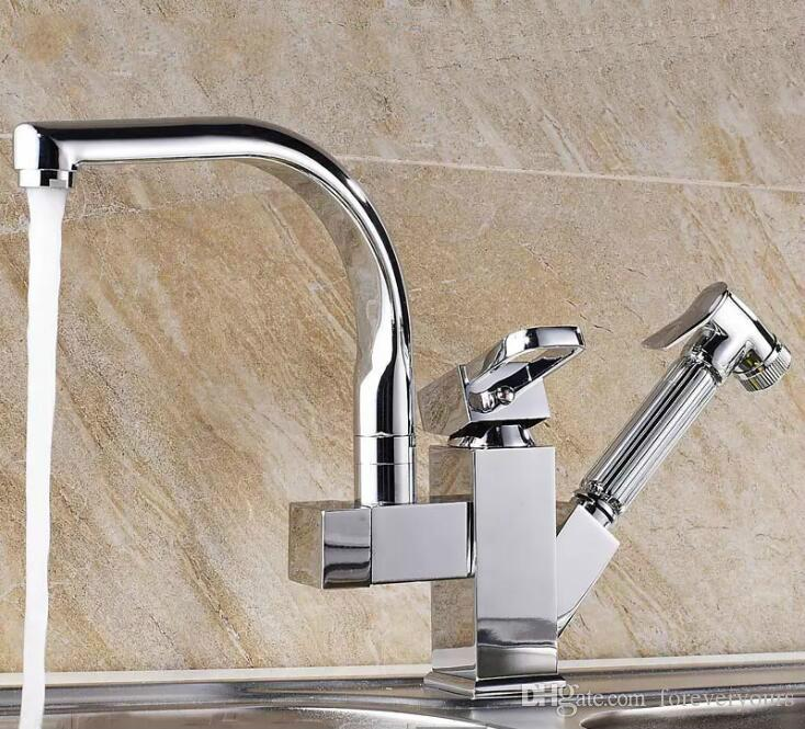 2018 Chrome Finish Kitchen Faucet Factory Direct Sale Deck Mounted