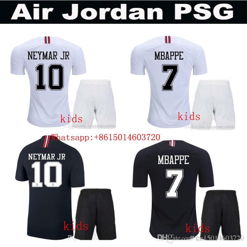 5058f100e Thailand Kids Jerseys PSG Jersey 2019 Paris 3rd Third MBAPPE Saint Germain  NEYMAR JR Jersey 18 19 Kids Shirt Tracksuit Online with  14.87 Piece on ...