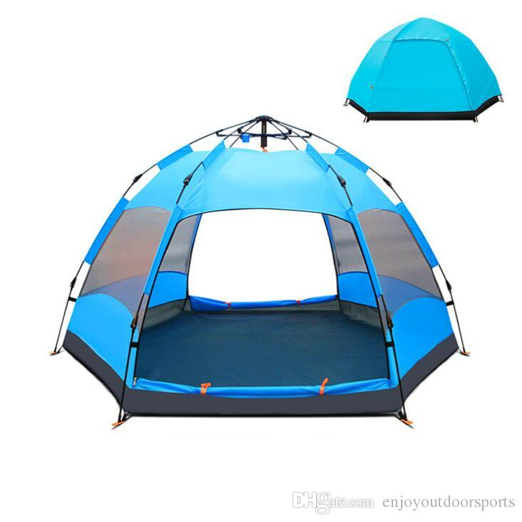 5 8 Person Portable C&ing Tent Automatic Pop Up Tents Rainproof Anti UV Breathable Double Layer C&ing Tent For Outdoor Hiking Tent 4 Person Tent Trailer ...  sc 1 st  DHgate & 5 8 Person Portable Camping Tent Automatic Pop Up Tents Rainproof ...