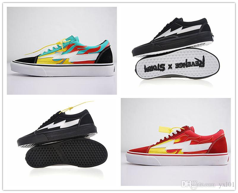 Discount! REVENGE x STORM Pop-up Store Casual Shoes Revenge x Storm Women's Men's Sneakers canvas shoes Skate shoe Old Skool boots free shipping top quality buy cheap high quality jRz02s