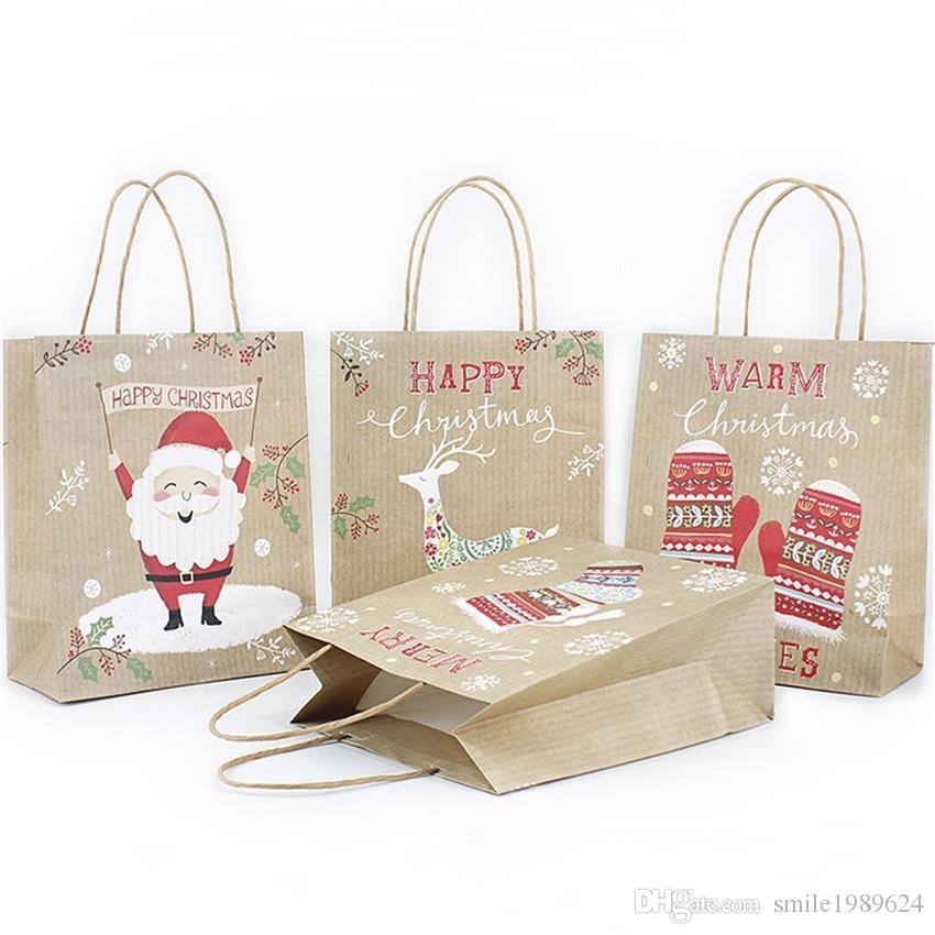 2019 Beautiful Custom Design Christmas Gift Kraft Paper Bag Creative