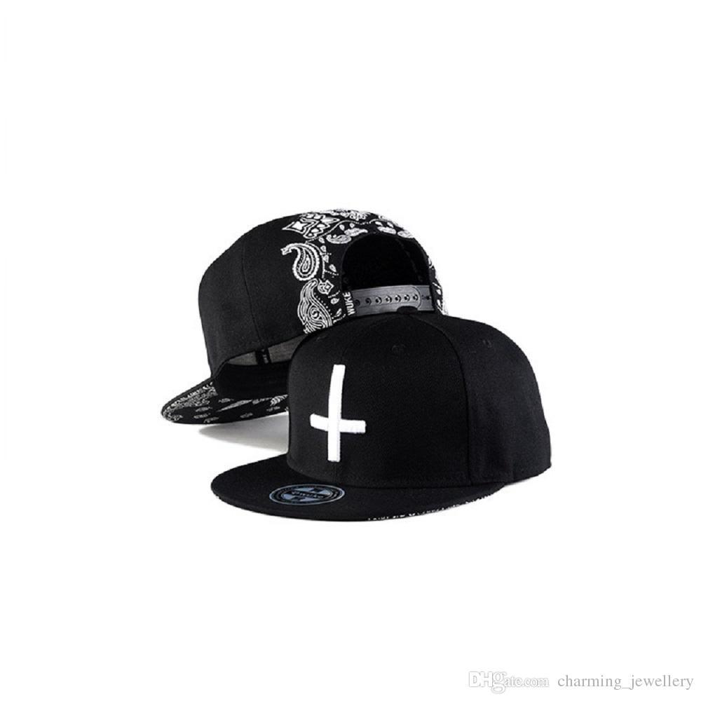 New Fashion Cross Baseball Cap For Men Women Flat Brim Sports Cap Hip Hop  Bboy Snap Back Caps Hat Adjustable Festival Gift Flexfit Hats For Men From  ... 2a772a6f84e9