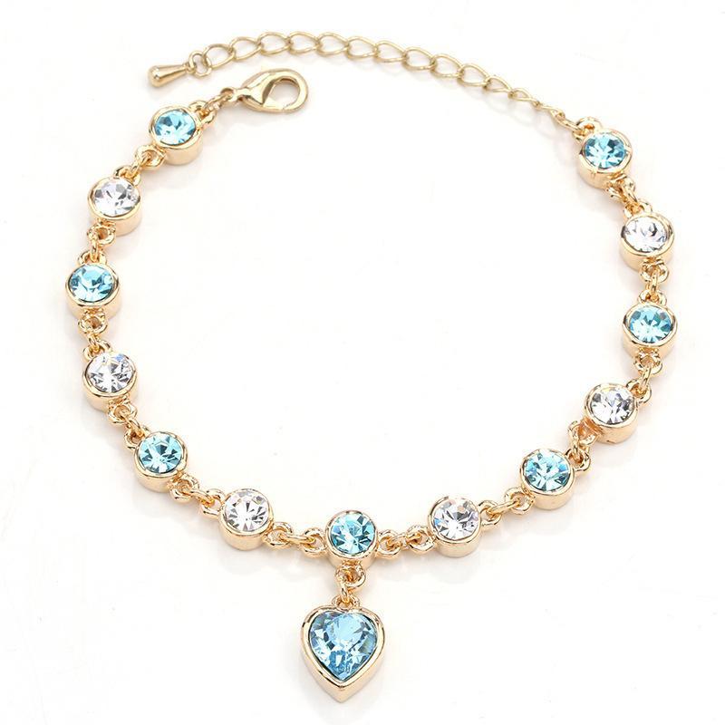 Cristal Bracelet Femme Cherish Amour Populaire Bracelet Avec De Belles Femmes De Mariage Saint Valentin Bijoux Bracelet Cadeau