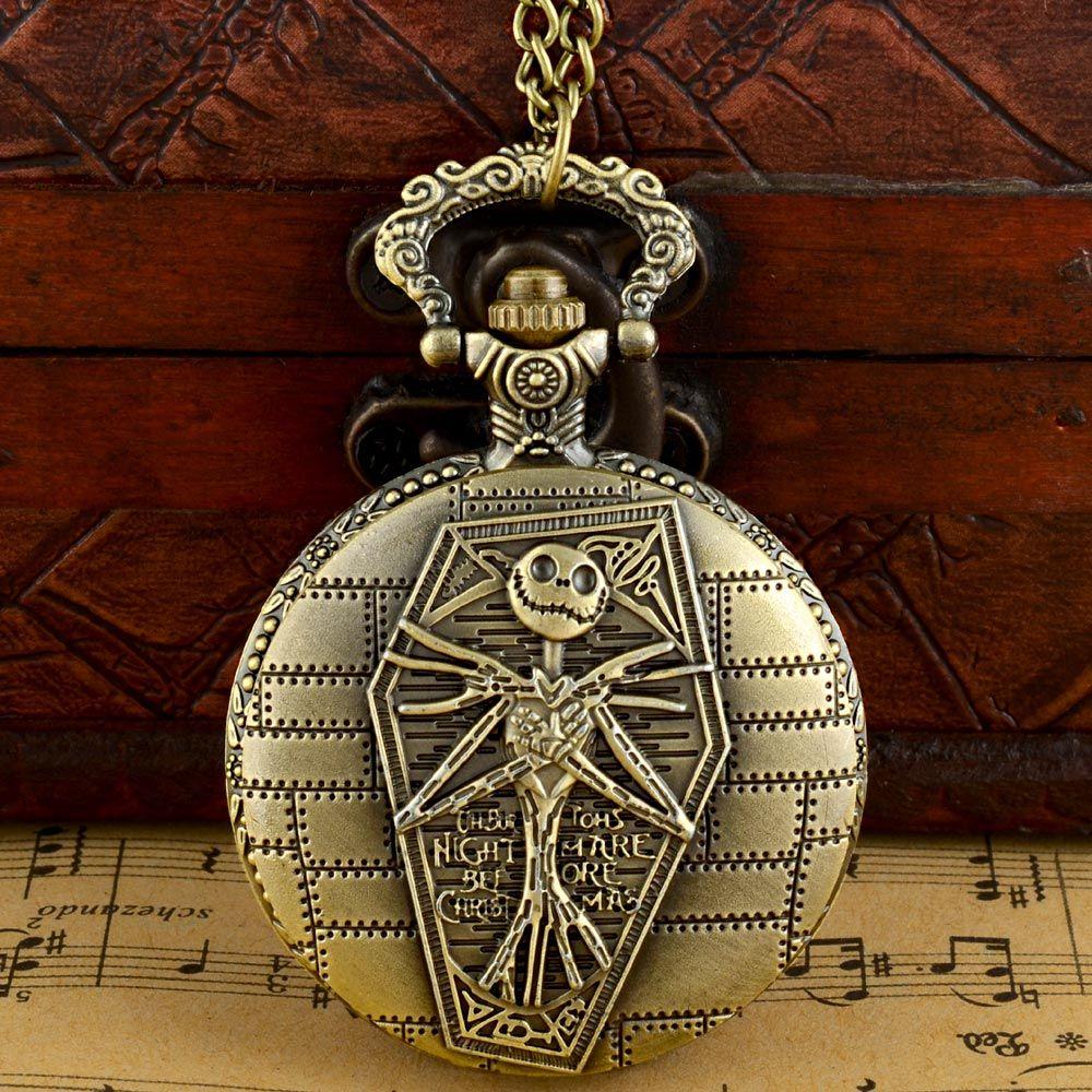 Antique Bronze The Nightmare Before Christmas Quartz Pocket Watch ...
