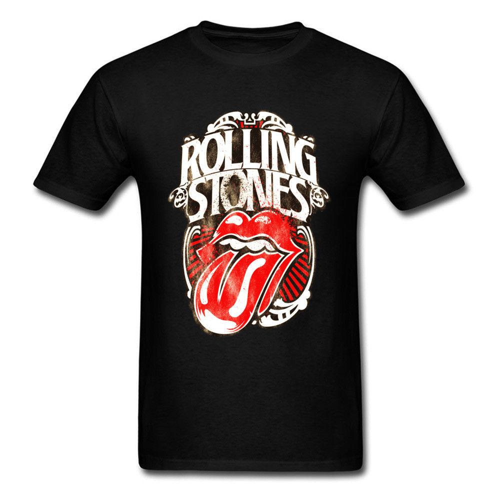 d218ca9819c5 NEW The Rolling Stones Men's Classic Tongue Vintage T-Shirt Rock ...