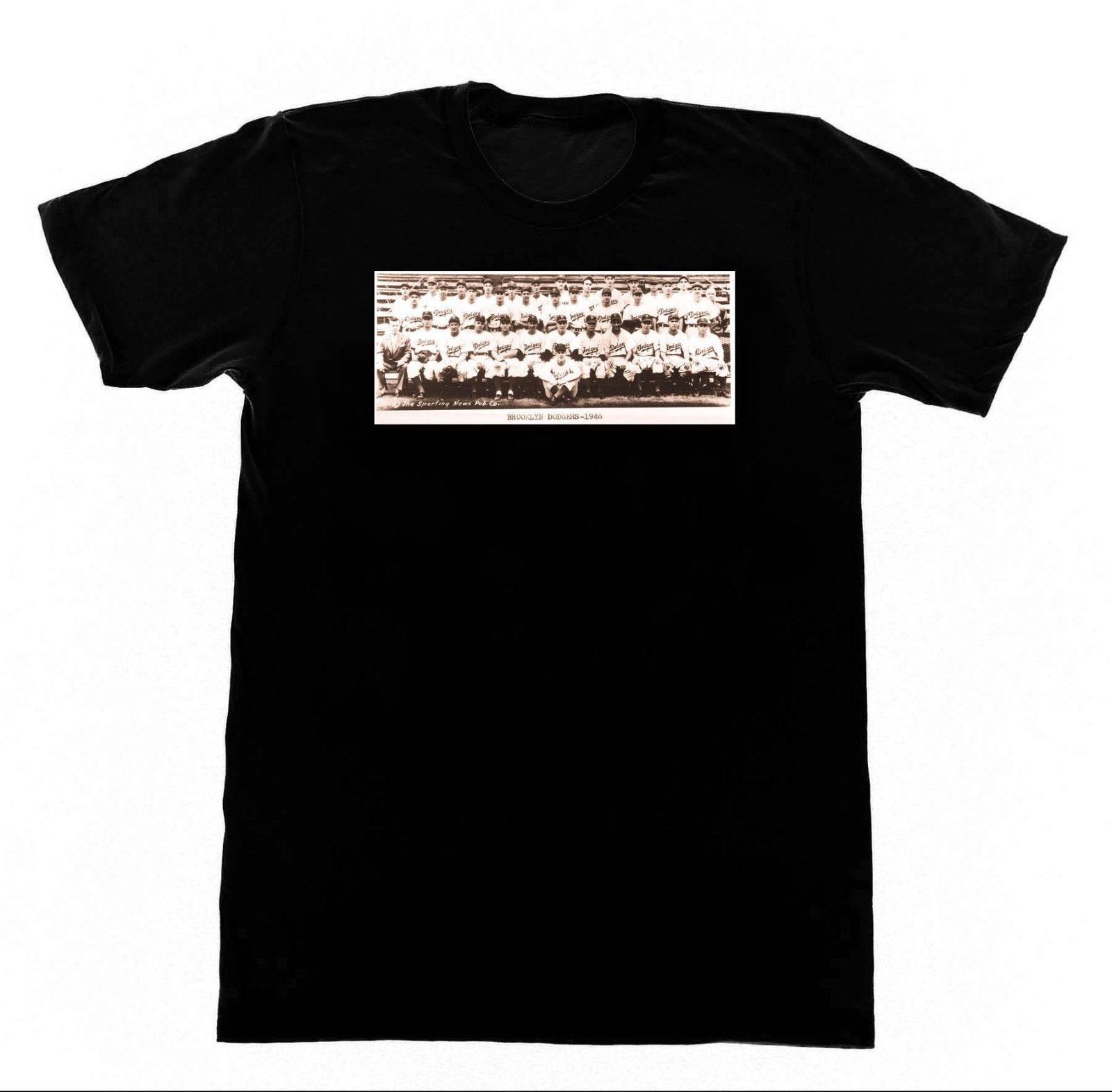 1946 Brooklyn Wholesale Discount Team Photo - Shirt B6 T-shirt Vintage  Baseball Bums Men 2018 Summer Round Neck Men s T Shirt