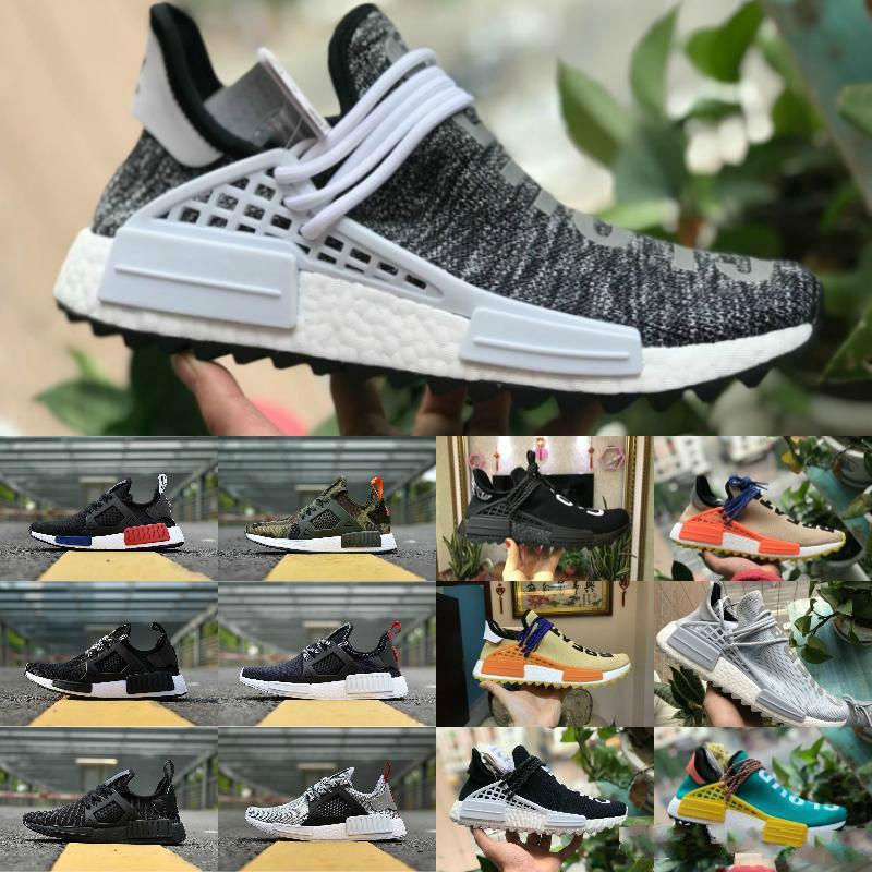 919c50b7aeb49 New Original 2018 Pharrell Williams Nmd Human Race Men Women Casual Running  Shoes Black White Nmds Primeknit PK Runner XR1 R1 R2 Sneakers Sneakers  Online ...