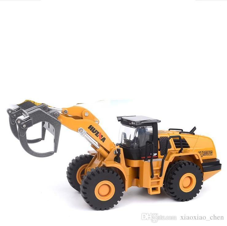 Brand new Engineering vehicle toy,1:50 scale alloy truck model, high-simulation alloy Grab wood machine, sliding collection model