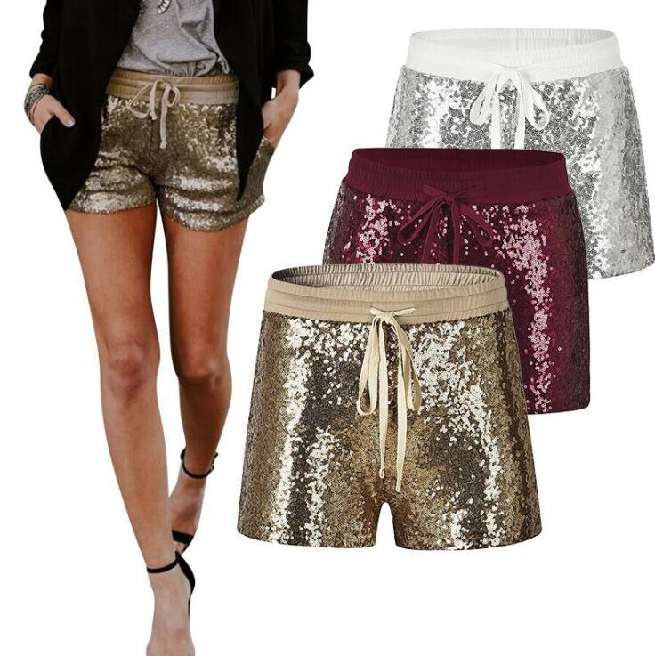 Gepäck & Taschen Kurze Femme 2019 Lose Hohe Taille Shorts Frauen Sommer Heißer Lantejoula Verband Hohe Taille Shorts Plus Größe Lose Beiläufige Weiß