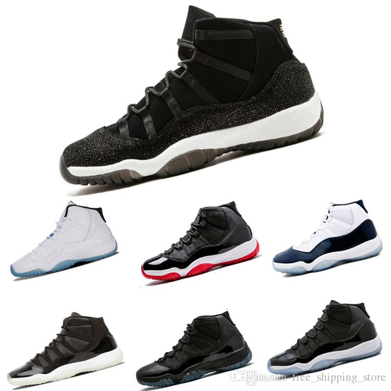 992943fd39ab14 Wholesale Basketball Shoes 11 Prom Night Gym Red Midnight Navy Heiress  Black Stingray Bred Concord Shoes 11s Mens Sneaker Sports Shoes Best Basketball  Shoes ...